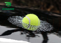 ball tennis car - 3D Tennis Ball Car Styling Stickers Hit Windows Funny Auto Windshield Decoration Self Adhesive Decal Accessories KF A1066