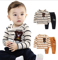 New fashion kids baby 2016 girls clothing sets casual bow pants suits