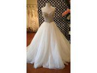 Le plus beau mariage Dresse robe de bal sweetheart tulle cristaux perles strass robe de mariée COR-394 Vestido de Noiva