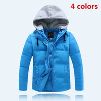 Wholesale 2016 New brand winter down coat male child short design thickening children s clothing baby kids down jacket parkas colors