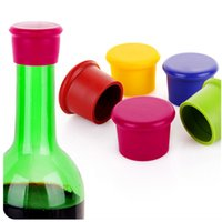 beverages beer - Wine Bottle Stopper Silicone Bar Tools Preservation Wine Stoppers Kitchen Wine Champagne Stopper Beverage Closures Beer bottle stoppers plug
