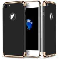 Wholesale For iPhone Plus gold hard pc case Removable in newest Rubberized matt Fundas Back Case cover for iPhone S