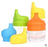 Wholesale BPA Free Reusable Elephant Shape Food Grade Silicone Sippy Lids for Baby Drinking Make Most Cups A Sippy Cup Leak Proof Stretch Lids