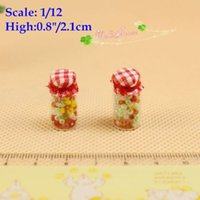 Wholesale 1 Dollhouse Miniatures Lovely Candy Jar Assorted Color Candies Arabia Style SET