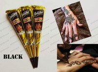 Wholesale 2017 NEW Black Natural Indian Henna Tattoo Paste for Body Drawing Black Henna Tattoos Body Art Painting High Quality g GLO178