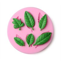 Wholesale Leaf Shape Silicone Fondant Cake Mold Baking Pastry Chocolate Candy Mould Kitchen Accessories Cooking Tool AC006