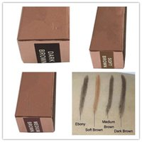 Wholesale 2016 Makeup Skinny Brow Pencil DOuble ended with eyebrow brush Color gold box