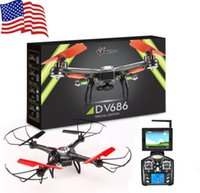 Precio de Helicópteros negros-Wltoys V686G v686 5.8G FPV en tiempo real Transmisson RC Drone helicóptero UFO Quadcopter con cámara de 2MP HD Negro