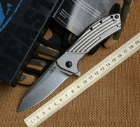 alloy steel hardness - Authentic Zero Tolerance ZT0801 Folding Knife D2 Steel High Hardness Survival Knife Outdoor Camping Self defense Tactical Gear Pocket Knife