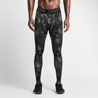 Polyester base layer clothing - Running gym clothing mens sport pants Compression Tights Skinny Basketball Base Layer Fitness Joggers Leggings Trousers