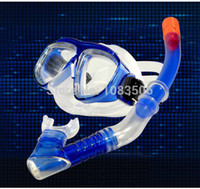 Wholesale WINMAX Adult Semi dry Swimming Anti Fog Goggles Scuba Skirt Dive Snorkeling Set Diving Mask Snorkel Kit