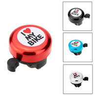 Wholesale Bicycle Bell I Love My Bike Printed Clear Sound Cute Bike Horn Alarm Warning Bell Ring Bicycle Accessory