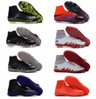achat en gros de indoor soccer shoes-Hypervenom Phantom 2 II FG Chaussures de football Hommes Chaussures de soccer HypervenomX Proximo IC TF Hypervenoms Chaussures de football de gazon Chaussures de soccer intérieur Nouveau