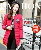 baseball uniform hats - Winter the new women s new women s clothing han edition cultivate one s morality in the long winter baseball uniform cotton cotton padded