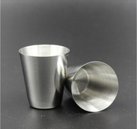 Wholesale 30ML Stainless Steel Mini Water Cup Coffee Beer Wine Mug Cups Portable Outdoor Travel Camping Drinking Tools