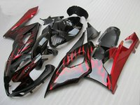Wholesale New TOP quality Injection ABS motorcycle Fairings Kits For Suzuki GSXR1000 K5 Year Cowling bodywork set black red flame