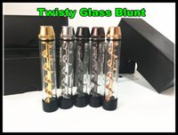Wholesale Twisty Glass Blunt rd edition Dry herb Pipe grinder Filter System More Accessories herbal Twist me cigarettes vapor dabber bongs