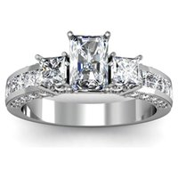 Wholesale GIA Certified Stone Radiant Cut Diamond Engagement Ring k Gold