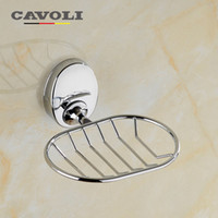Wholesale Fashion Soap Dish Creative Soap Box Zinc Alloy Chrome Soap Holder Brand Bathroom Accessories Bath Care Cavoli