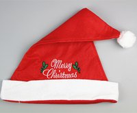 Wholesale Direct manufacturers sell like hot cakes with embroidered cap adult children Christmas ornaments Santa Claus Santa hats