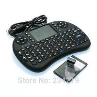 al por mayor al por mayor de iones de litio-Venta al por mayor-Rii mini i8 teclado inalámbrico Inglés versión 2.4G con Touchpad para PC androide negro de TV incluyen células de iones de litio
