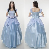 adult princess dresses - Sissi Princess Dress Snow White Costume Halloween Party Elegant Noble Blue Gown Medieval Adult Fairy Cosplay