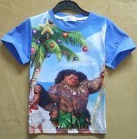 Broadcloth Fashion Yes Mix Wholesale 24 Designs 2017 Moana Cartoon Movie Gilrs Boys T-shirts Summer Kids Shirt Short Sleeves Printing Tops T Baby Chirldren Clothes