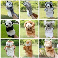 Wholesale Soft Toys Fingers Doll Squirrel Leopard Cat Voles Fox Hand Puppets Fantoche Interactive Early Educational Plush Puppet Toys
