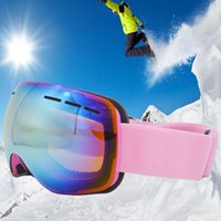 Wholesale Dual layer anti mist ski goggle adult outdoor sports climbing cycling glasses ski goggles
