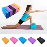 Wholesale 5 Color cmPilates High Quality EVA Yoga Block Brick Foaming Foam Home Exercise Fitness Health Gym Practice Tool