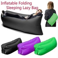 Wholesale Fast Inflatable Air Sleeping Bag Outdoor Air Sofa Couch Colors D Portable Sleeping Hangout Lounger Inflatable Air Bed D790
