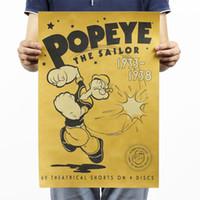 animation coffee - Popeye classic animation wallpaper kraft paper poster Bar coffee decorative painting x35 cm