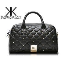 Women abs chocolate - 2017Top quallity Leather Kardashian kollection kk bag handbags women famous shoulder bag female fashion crossbody Rivet bags