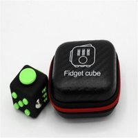 Wholesale Fidget Cube Case Zipper Portable Decompression Toy New Novelty The World s First American Decompression Anxiety Toys Accessories DHL