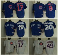 Wholesale 2017 Chicago Cubs Baseball Jersey Mens Kris Bryant Anthony Rizzo Javier Baez Kyle Schwarber World Series Champions Gold Jerseys