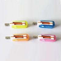 Tout en 1 USB 2.0 Multi Memory Card Reader Adaptateur Connecteur pour Micro SD MMC SDHC TF M2 Mémoire Stick MS Duo RS-MMC Avec sac de vente au détail