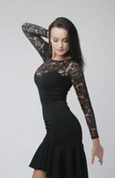 Wholesale Latin Dance Dress Tassel Elegant Sexy Women Tango Ballroom Salsa Stage Dance Costumes Lace Patchwork Dancewear