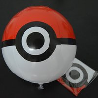 Wholesale 12 Inches Poke Ball Inflatable Beach Balls PVC Children Toy Ball for Kids Outdoor Games Beach Sport Ball Toys Summer
