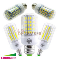 Wholesale E12 E14 E26 E27 B22 LED Dimmable W W W W W W Super Bright SMD5730 LED Corn Light Lamp Bulbs