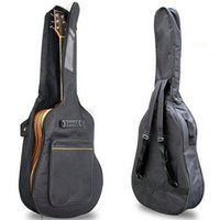 acoustic bags - 2016 New quot Acoustic Guitar Double Straps Padded Guitar Soft Case Gig Bag Backpack High Quality