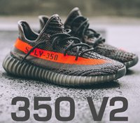Unisex blue boxs - 2017 with double and receipts boxs SPLY Boost V2 Black White Kanye West Grey Orange Beluga Running Shoes Sneakers Boost V2 shoes