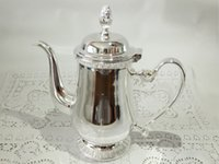 Wholesale High quality European style shiny silver plated gold plated stainless steel ml ml ml coffee pot