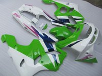Wholesale New ABS fairings kits Fit for ZX636 Kawasaki Ninja fairing ZX6R R aftermarket parts green white