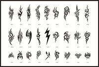 Wholesale Big Totem Designs Reusable Adhesive Airbrush Tattoo Stencil Template Book