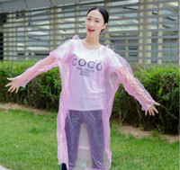Wholesale disposable raincoat with hood Fashion clear lightweight rains coat emergency waterproof raincoat Rainwear Travel Rain Coat Rain Wear