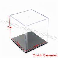 acrylic cube case - Odoria Acrylic Display Case Box Cube x7x7 cm Perspex Dustproof ShowCase For Golf Tennis Figurines