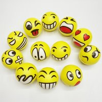 assorted stress balls - 6 CM Emoji Faces Squeeze Stress Ball Hand Wrist Finger Exercise Stress Relief Therapy Assorted Styles New Christmas party gifts free