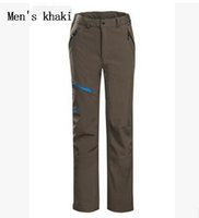 Wholesale New Winter Brand Pants Men Hiking Softshell Pants Men Women Windproof Waterproof Thermal For Hiking Camping Ski pants
