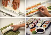 Wholesale DHL hot selling only New Sushezi Roller Mold Kit Sushi Rolls Made Easy DIY Sushi Bazooka Sushi Maker Mold Cooking Tools