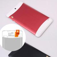 Precio de 3g usb libre-Teléfono celular de 7pcs 3G Phablet que llama la PC MTK6572 de la tableta Dual Core de la pantalla táctil capacitiva del tacto WCDMA GSM Bluetooth de la cámara dual tarjeta de Sim libre